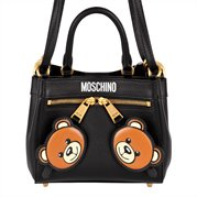 MOSCHINO Bag Double Bear Black Small