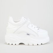 Buffalo Low Platform Charol White Patent (shiny) Leather