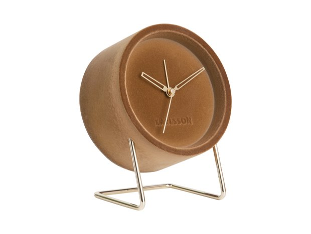 Karlsson Alarm clock Lush Velvet Caramel Brown