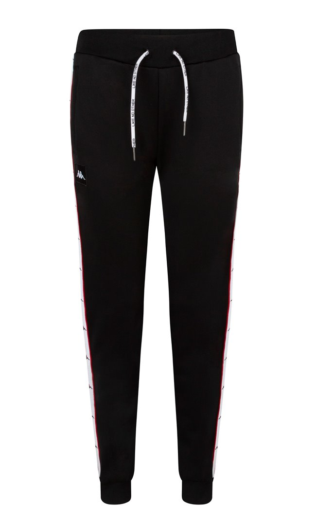 Kappa Trousers Auth. Baey Black/White/Red