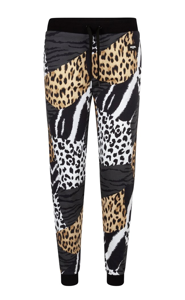 MOSCHINO Trousers Leopard/Zebra Patchwork