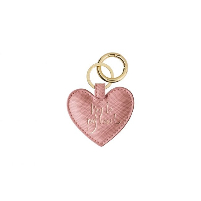 Katie Loxton Keyring Key to My Heart Pink