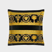 VERSACE Baroque Double Sided Cushion Black/White