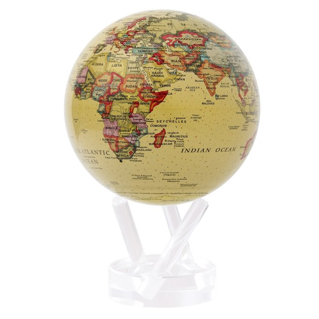 "Mova Globe Political Map Yellow 4,5"" MG-45-WGE"