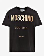 MOSCHINO T-Shirt Logo Couture Gold