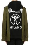 MOSCHINO Jacket-Hoodie Black/Green