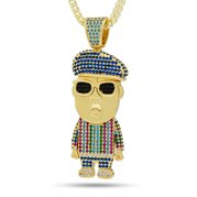 King Ice NKX14194 14k Gold Plated Biggie Sweater Necklace