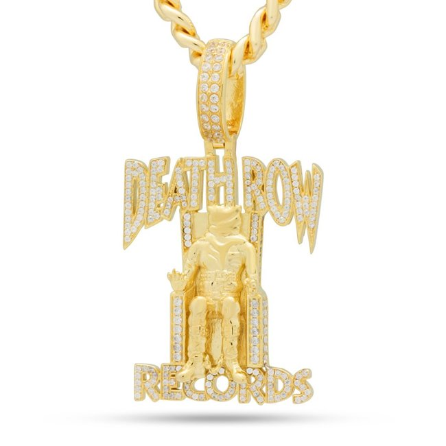 King Ice NKX14134 14k Gold Plated Death Row Records Necklace
