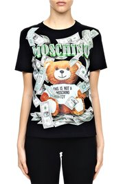 MOSCHINO  T Shirt Bear Dollars Women