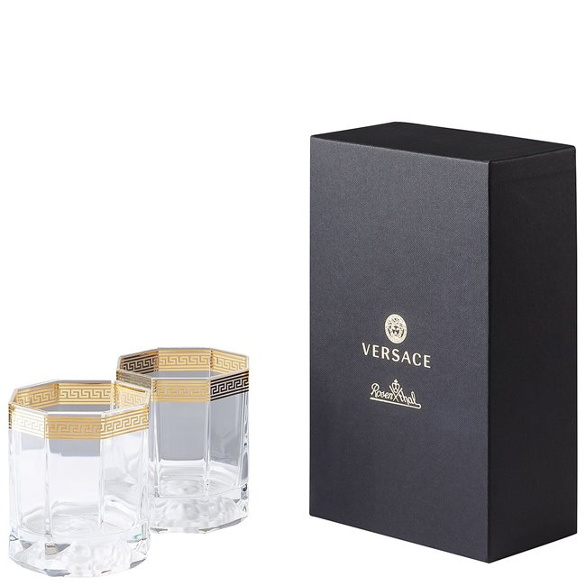 VERSACE Medusa D'or Whisky Glasses Set