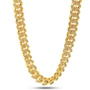 King Ice 14k Gold Plated 15mm Miami Cuban Curb Chain CHX11380 18""