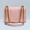 MOSCHINO Grained Leather Flapbag Pink