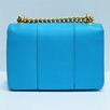 MOSCHINO Grained Leather Flapbag Blue
