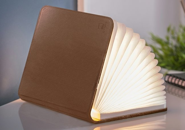 Gingko Design Smart Book Light Brown Leather Large 17 cm x 21,5 cm