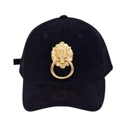 Eye Hunee Cap Velour Lion Black